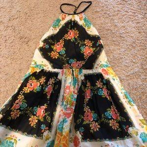 NWT Free People Sweet Lucy Slip Dress in Black 0